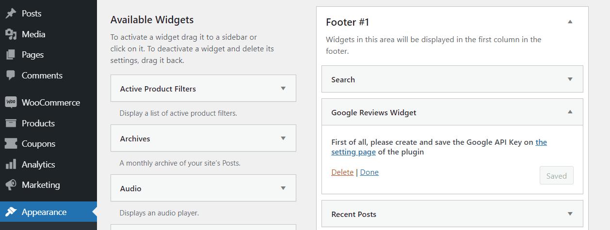 Adding a Google Reviews widget to your website