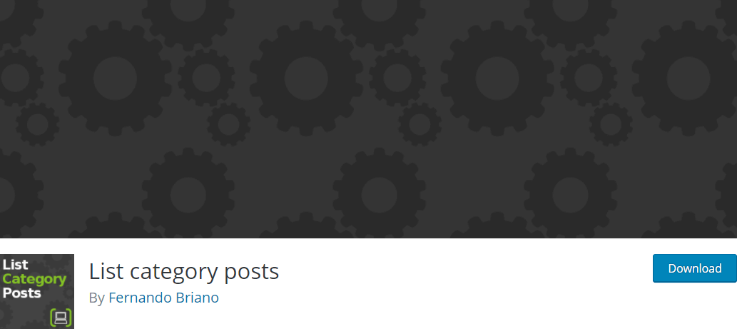 The List category posts plugin.