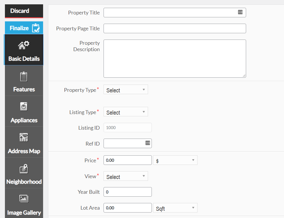 Adding a new listing using the WPL Real Estate plugin