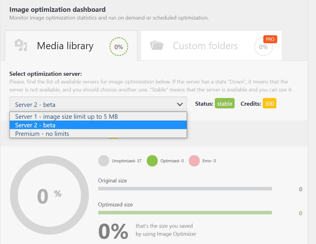 Configuring the Robin Image Optimizer plugin