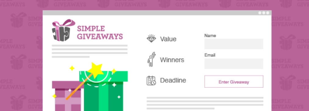 The Simple Giveaways WordPress contest plugin.