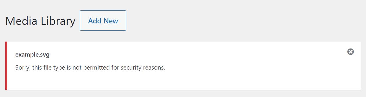 Uploading an svg file to WordPress