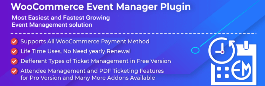 The WooCommerce Event Manager plugin