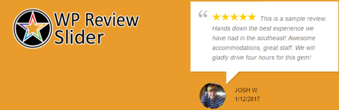 The WP Review Slider plugin