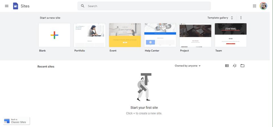 sites templates