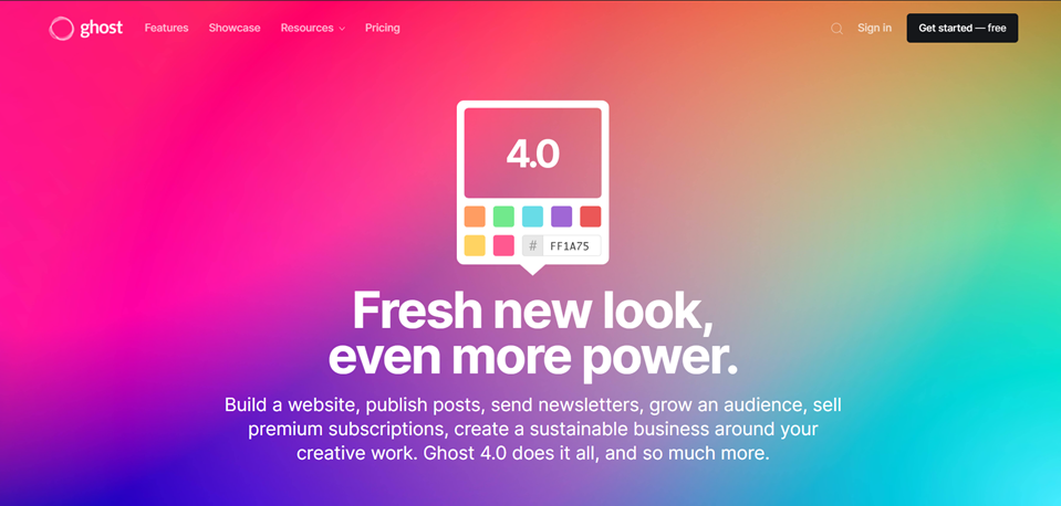 ghost homepage