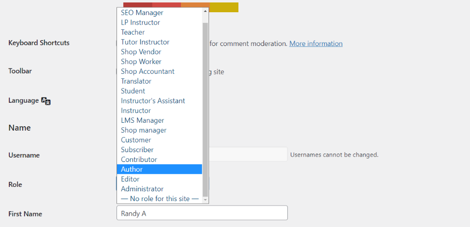 Changing User Permissions