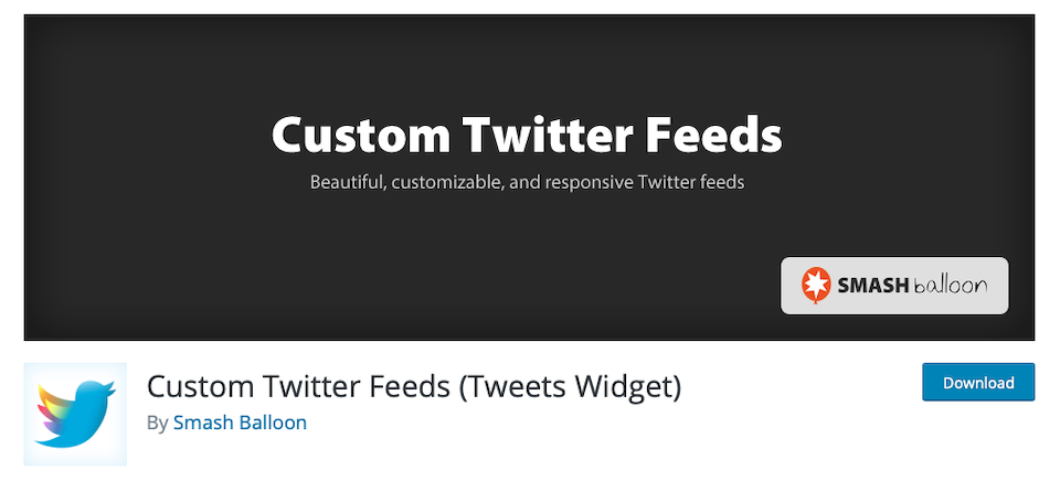 twitter widget wordpress