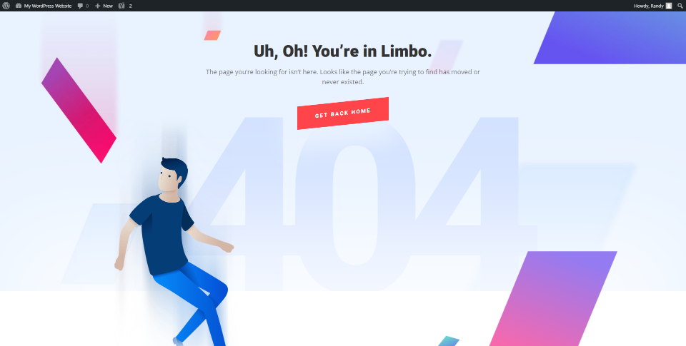 404 Page Content