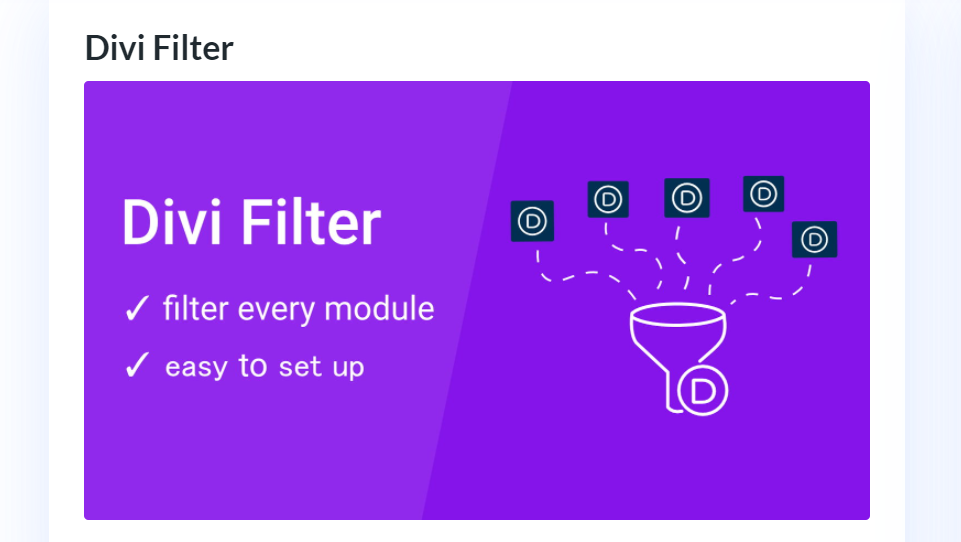 How to Get Divi Filter