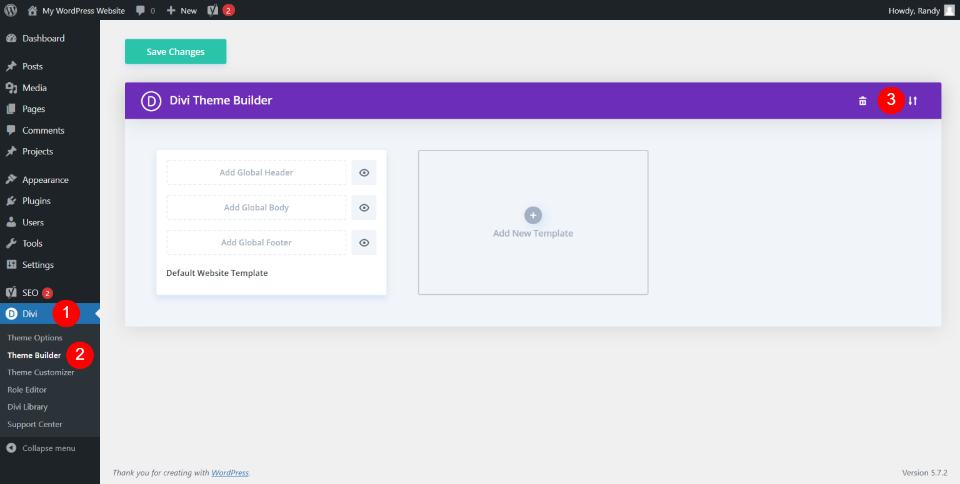 Importing a Custom 404 Page into the Divi Theme Builder