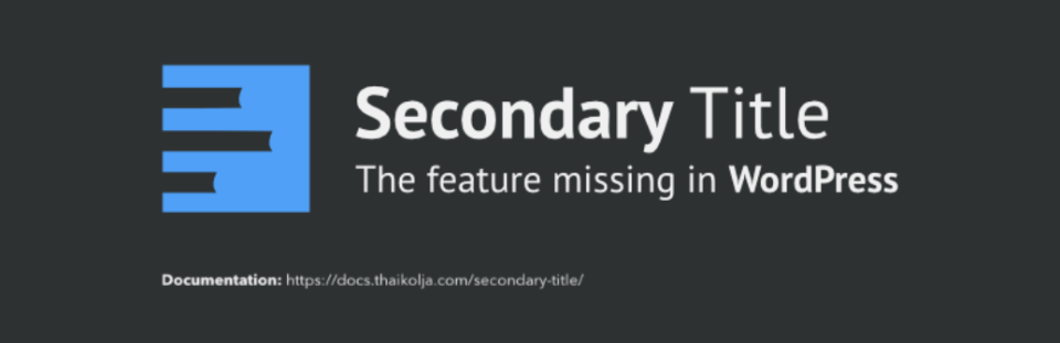 Secondary Title
