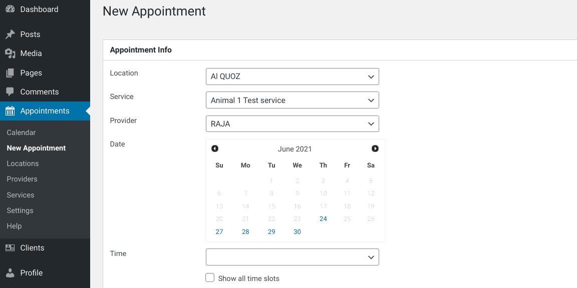 The interface of BirchPress Scheduler, one of the best WordPress booking plugins.