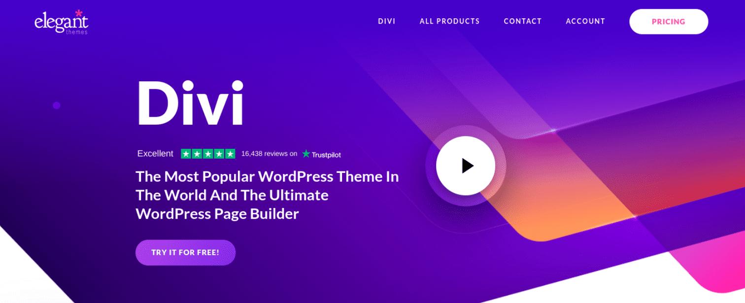 The Divi Builder plugin website.