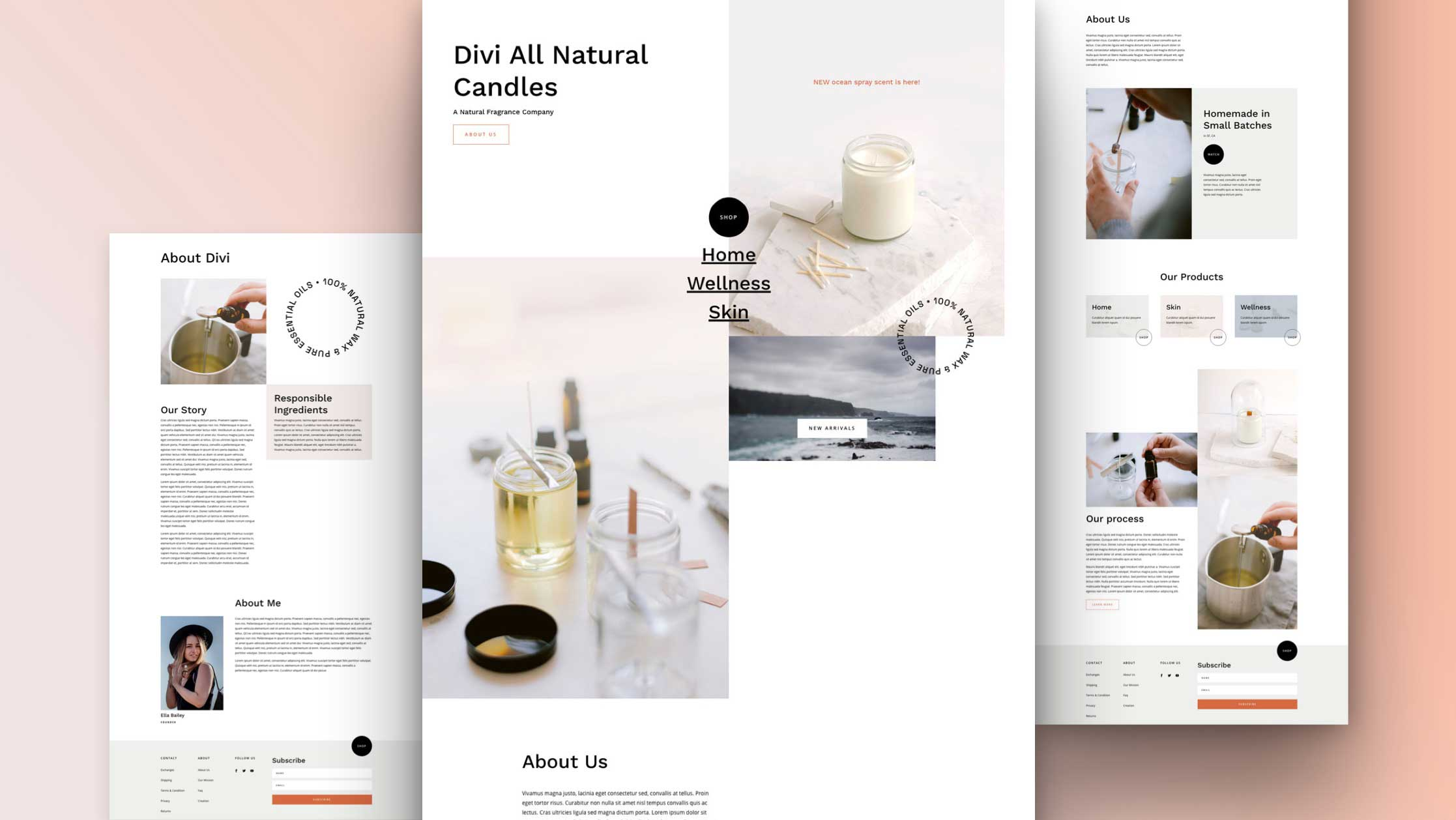 Get a FREE Candle Making Layout Pack for Divi