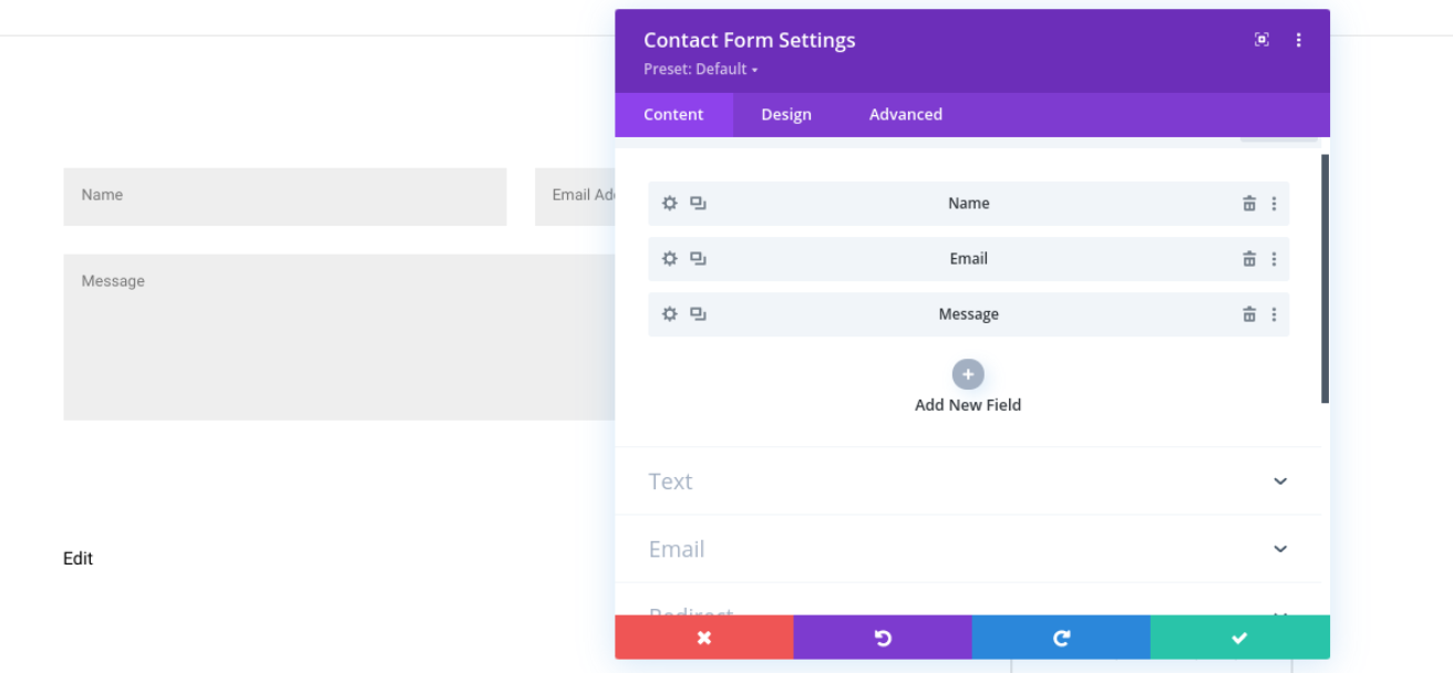 The Divi Contact Forms module.