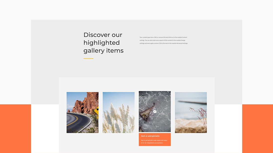 How to Slide-Down Reveal Your Gallery Image's Title & Caption with Divi