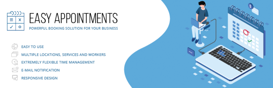 The Easy Appointments WordPress booking plugin.