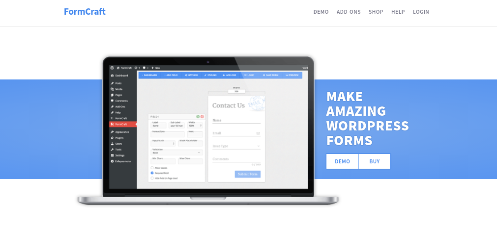 The FormCraft plugin website.