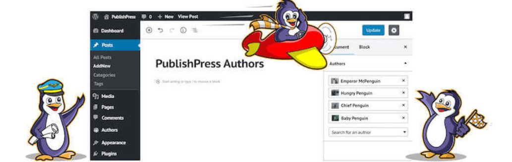 The PublishPress Authors plugin, one of the best WordPress plugins for bloggers.