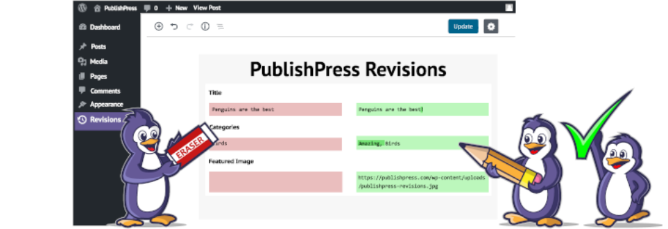 The PublishPress Revisions plugin, one of the best WordPress plugins for bloggers.