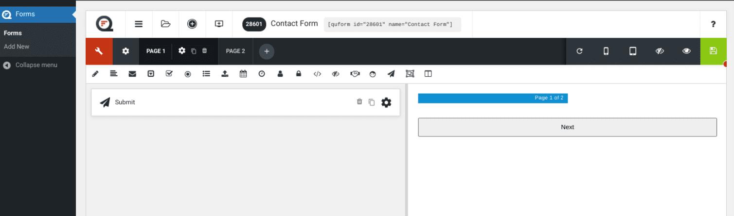 The Quform WordPress Form Builder plugin demo.