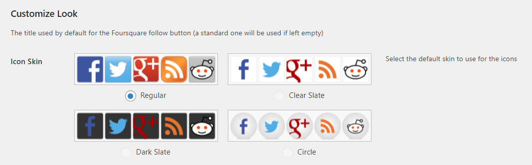 Choosing the style of your social sharing buttons