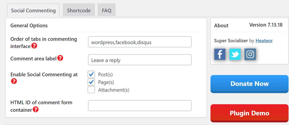 Enabling social commenting in WordPress