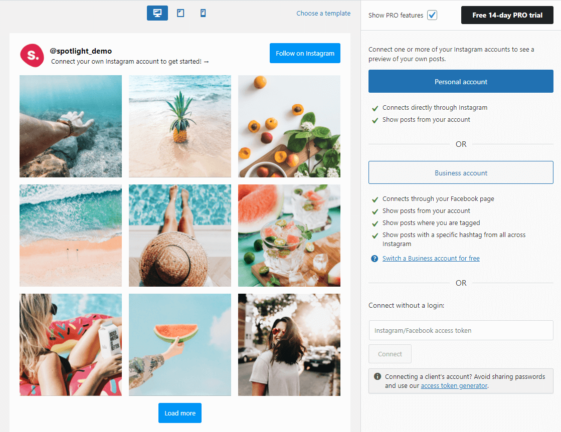 Connecting your Instagram feed with WordPress