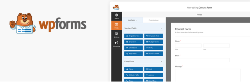 The WP Forms WordPress plugin.