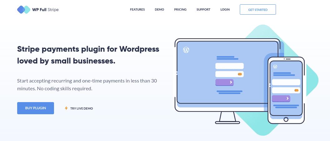 The WP Full Stripe website.