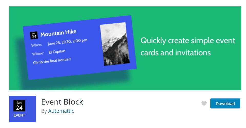event block by automattic