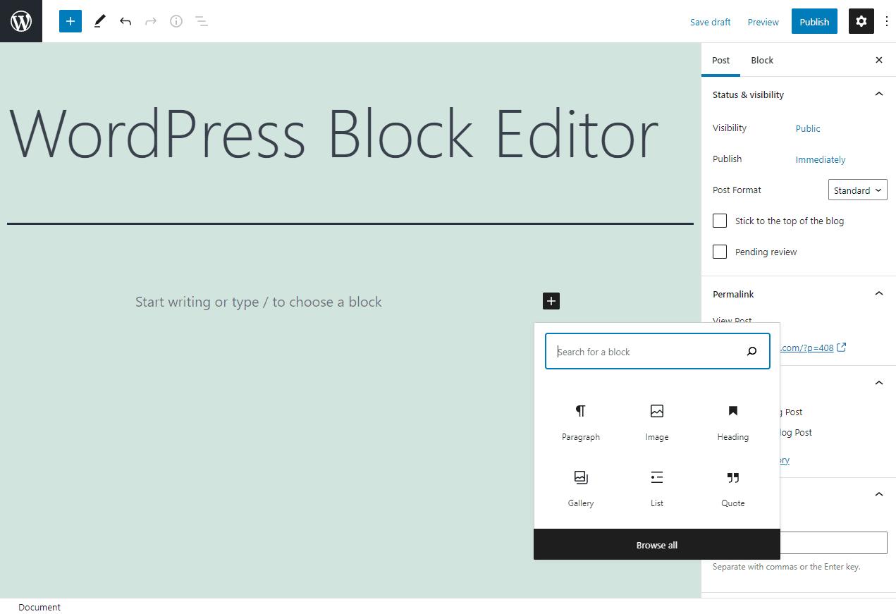 wordpress vs godaddy website builder block editor