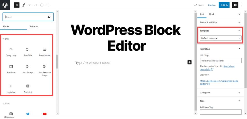 wordpress block editor 5.8