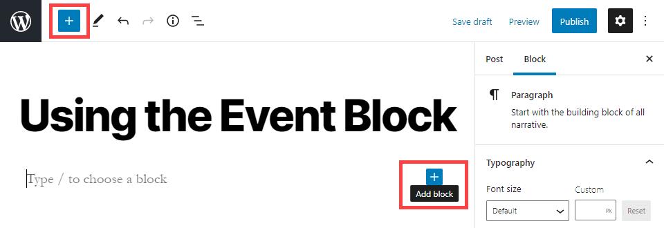 add a new block
