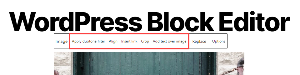 wordpress image options