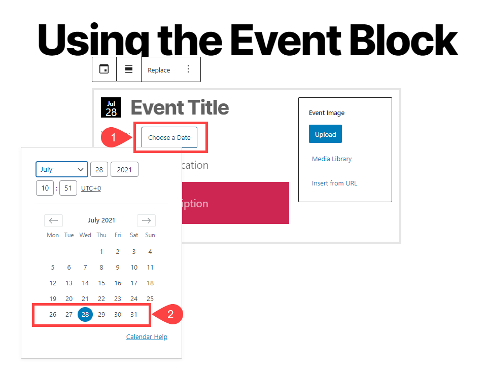 event block date