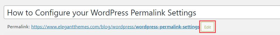 configure wordpress permalink settings