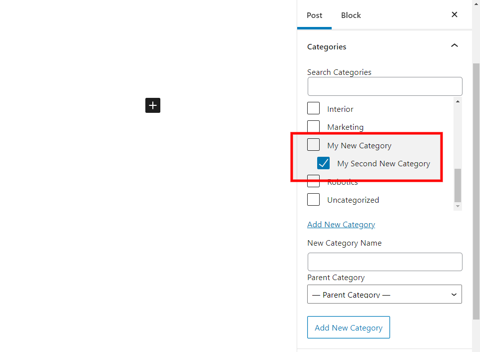 Create Categories within Posts