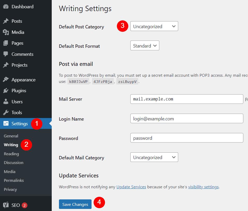 Default WordPress Category