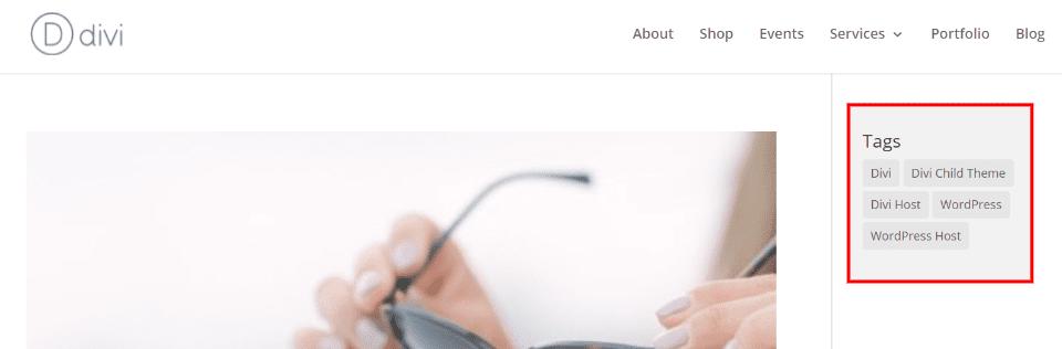 Display WordPress Tags with a Widget