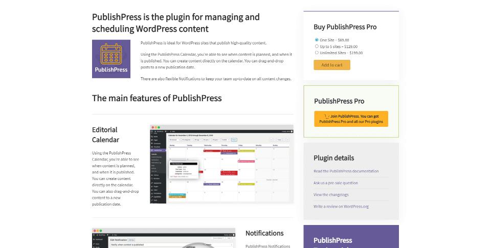 PublishPress Editorial Calendar and complimentary plugin suite