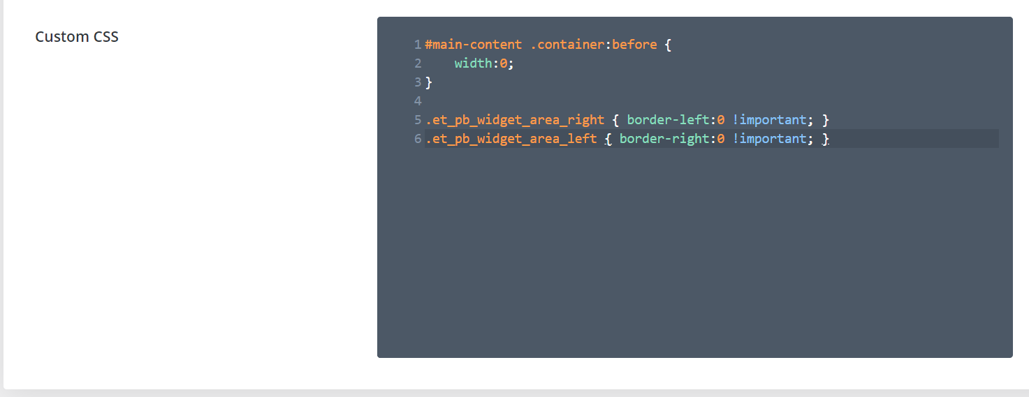 Removing or Styling Divi's Sidebar Border with Code
