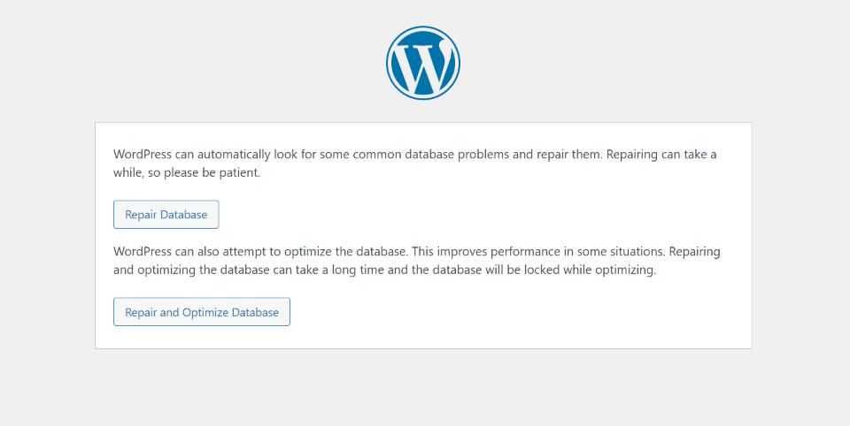 Repair Your Database