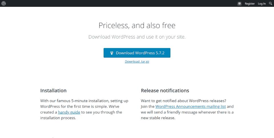 Upload a Clean Copy of WordPress