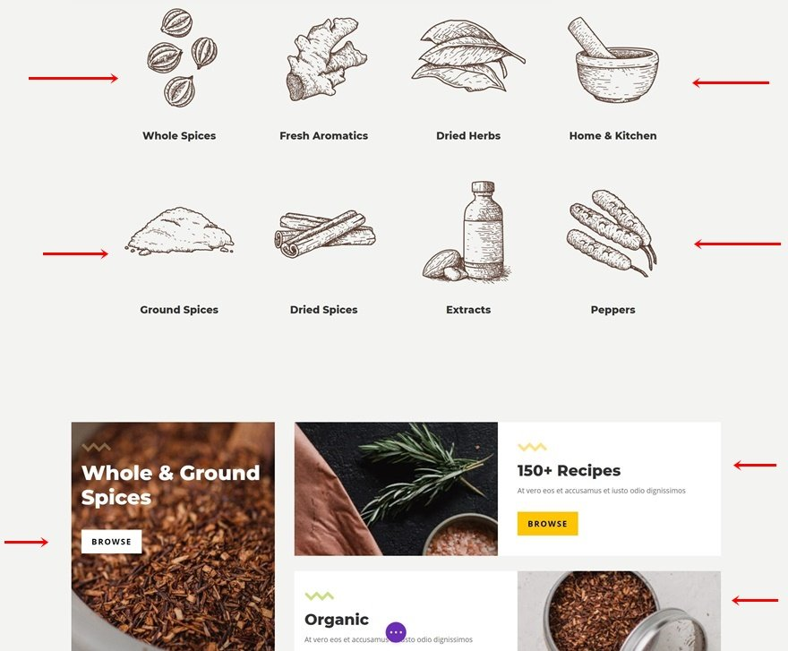 spice shop product category page template