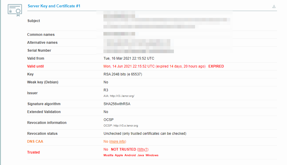 Checking if your SSL certificate is expired