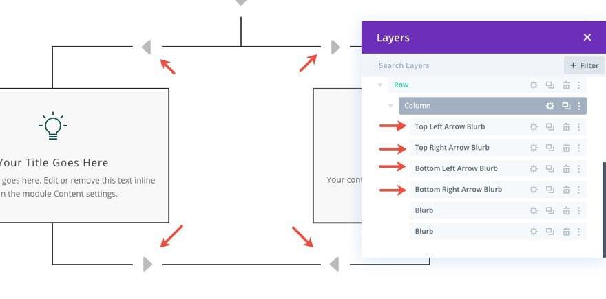divi flow chart layout