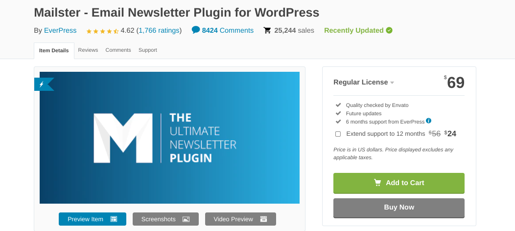 The Mailster plugin.