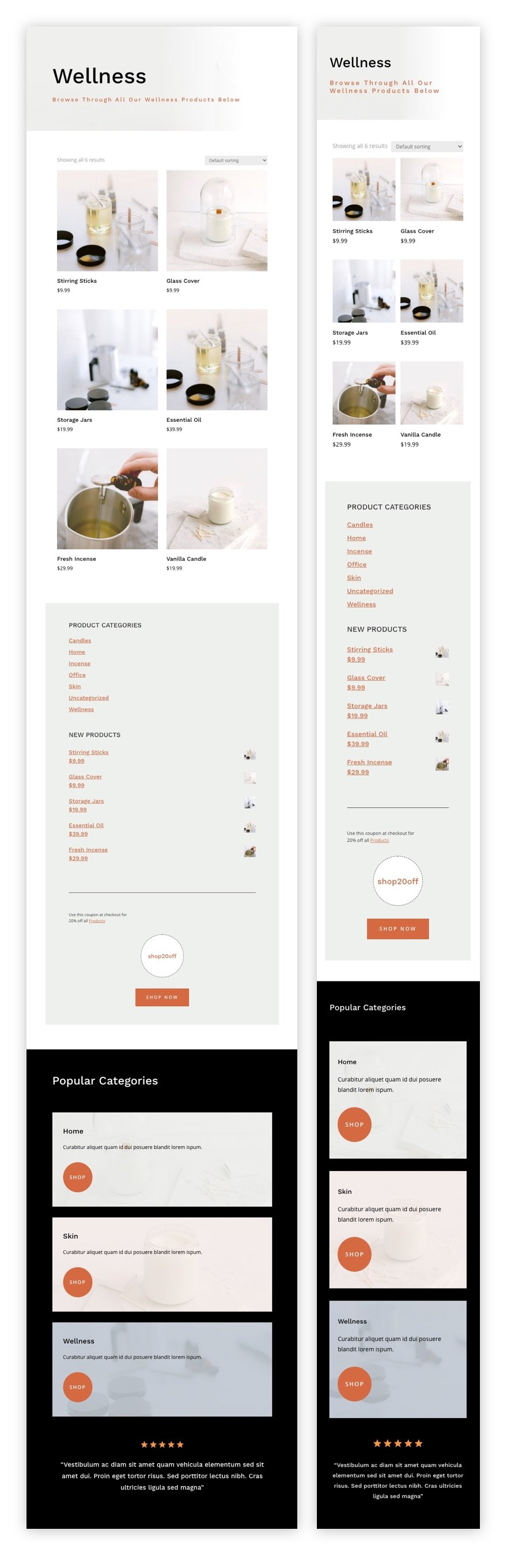 candle making product category page template